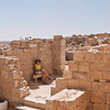 The ruins are similar to those at Masada - hot and dry