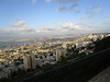 View of Haifa from the Louis Promenade outside our hotel.