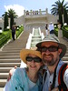 Dorothy and Pat at the Baha'i Gardens, Haifa