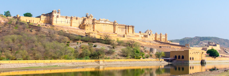 The Amber Palace just outside of Jaipur