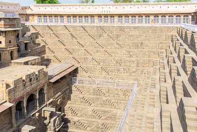 Chand Baori with Sheri on the far side to give it some scale.