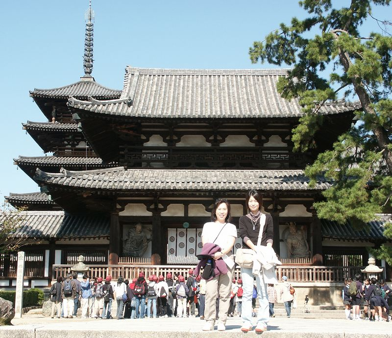 Nara: First permanent Japanese Capital (710) - Horyuji Temple