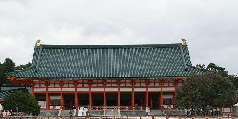 Heian shrine: Inside court reflects the elegance of life in ancient Japan.