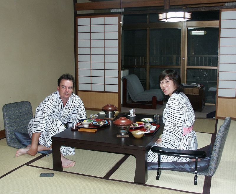 Hakone (90 minutes from Tokyo): Tradional Japanese style hotel (ryokan)