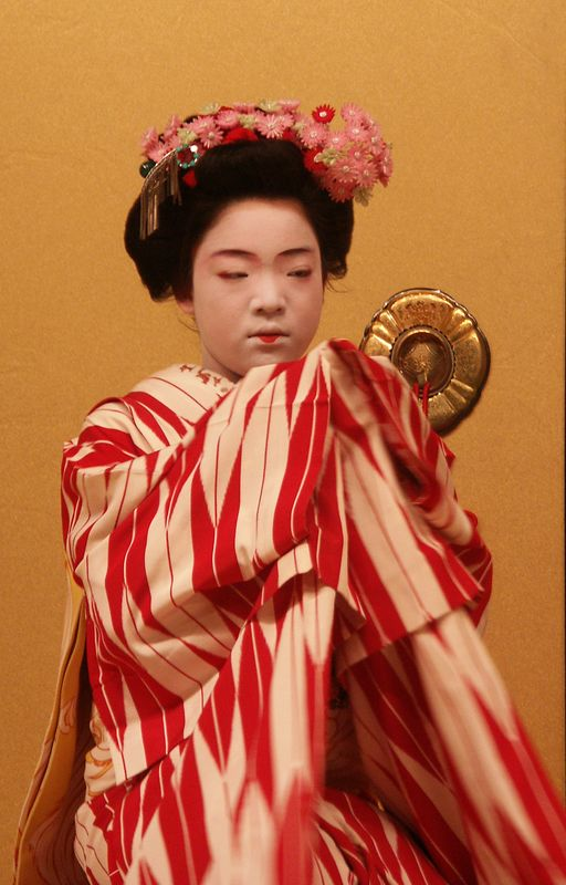 Odori dance performed by Geisha. Dance grew out of Kabuki drama.