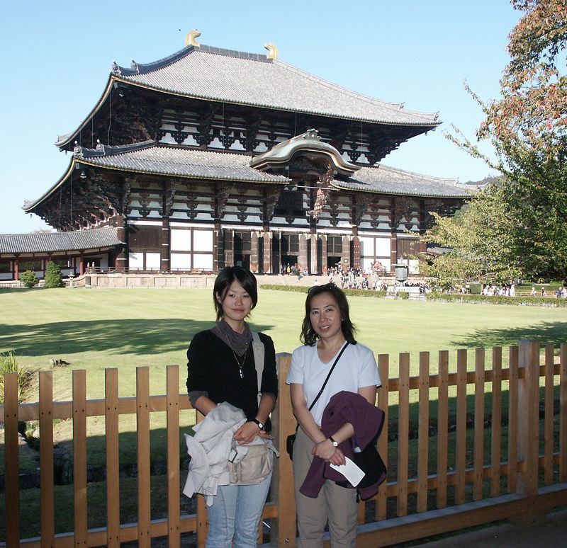 """Todaiji (""""Great Eastern Temple"""") is one of Japan's most famous and historically significant temples (752)"""
