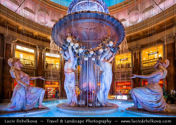 Japan - Honshu Island - Tokyo - 東京 - Tōkyō - Odaiba - お台場 - Large popular shopping and entertainment district on an artificial man made island in Tokyo Bay - Venus Fort Shopping Mall