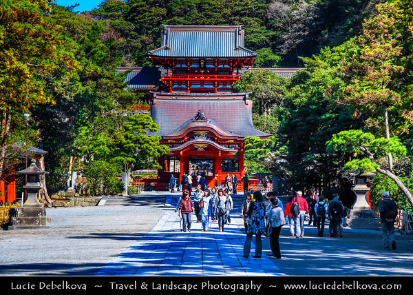 Japan - Honshu Island - Kanagawa Prefecture - Kamakura - 鎌倉市 - Kamakura-shi - Tsurugaoka Hachiman-gū - The most important Shinto shrine in the city of Kamakura