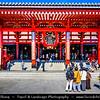 Japan - Honshu Island - Tokyo - 東京 - Tōkyō - Asakusa - 浅草 - Sensōji - Sensoji - 浅草寺 - Asakusa Kannon - Buddhist temples area with Kaminarimon - 雷門 - Thunder Gate & Kannondō - 観音堂 - Kannon Hall & Gojūnoto - 五重塔 - 5-Story Pagoda