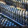 Japan - Honshu Island - Kanagawa Prefecture - Kamakura - 鎌倉市 - Kamakura-shi - Hase-dera temple - Jizo-Bosatsu represents the blessings of the earth - Little miniature statues
