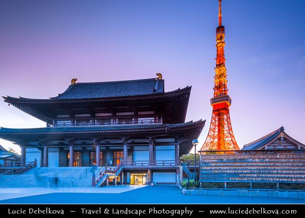 Japan - Honshu Island - Tokyo - 東京 - Tōkyō - Minato - Shiba Park - Shiba-Koen - San'en-zan Zōjō-ji - 増上寺 - Zojoji Temple near Tokyo Tower - Head temple of the Jodo sect of Japanese Buddhism