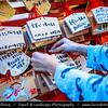 Japan - Honshu Island - Kanagawa Prefecture - Kamakura - 鎌倉市 - Kamakura-shi - Tsurugaoka Hachiman-gū - The most important Shinto shrine in the city of Kamakura - Ema - 絵馬 - Little wooden plaques for people to write their prayers and wishes
