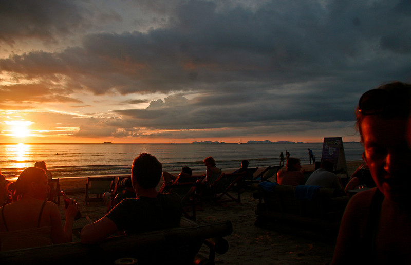The main activity on Ko Lanta is watching the sunset.  Pas's Indian Bar has become the place to watch it.