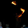 After the sun sets Pas lites up the torches and does a pretty good fire dance.