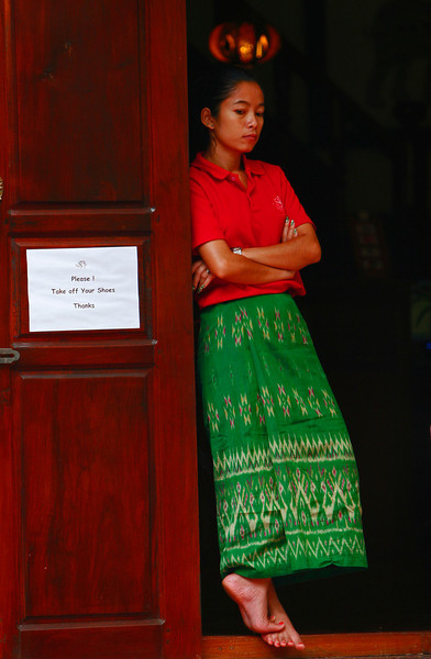 The majority of the women in LP still wear sarongs.  they are sewn up like a loose skirt and are no longer just a single piece of fabric