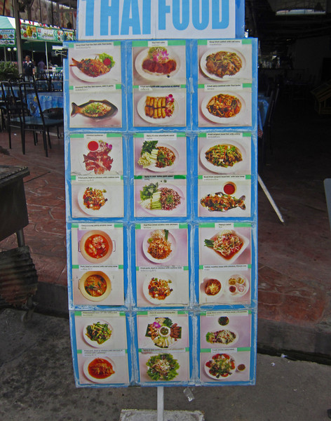A common practice that helps foriegners deal with the language barrier in ordering food.