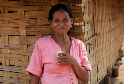 northern Laos A woman in the Khmu village.
