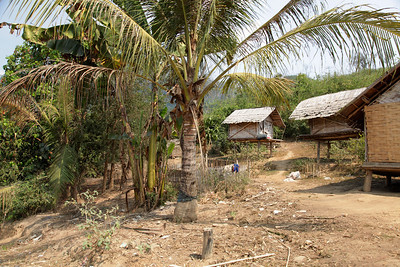 northern Laos Midland hill tribe village (Khmu Tribe), northern Laos.