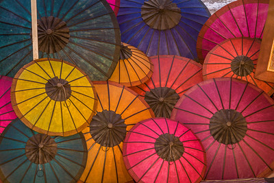 Umbrellas III, Night market