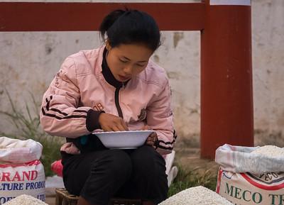 Rice Seller, Produce Market
