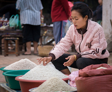 Rice Seller, Produce Market