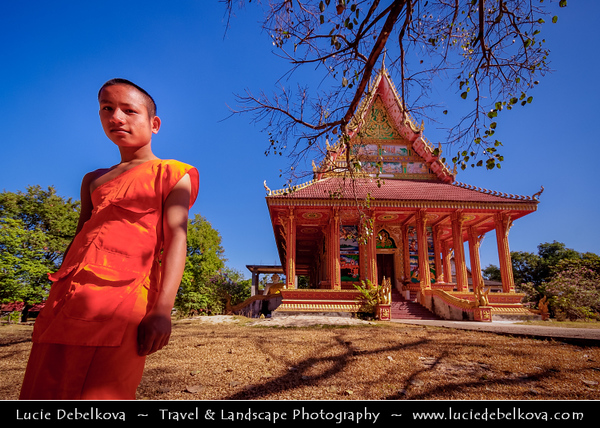 Asia - Laos - Vientiane - Viang chan - Capital city of Laos situated on relaxing riverbank of Mekong River - Wat Somevank - One of many wonderful buddhist temples