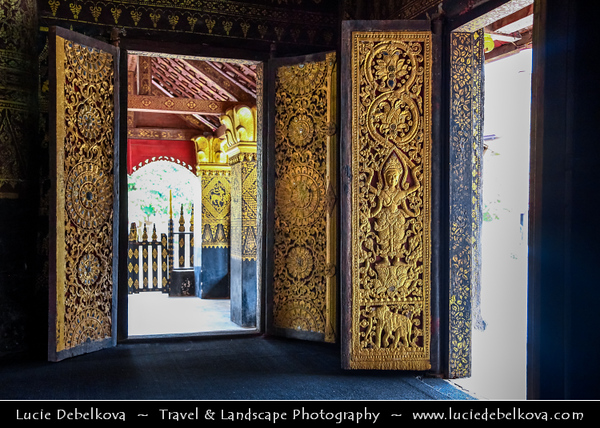 Asia - Laos - Luang Prabang - Louangphrabang - UNESCO World Heritage Site - Ancient royal capital at confluence of Mekong River & Nam Khan river - One of the most charming and best preserved towns in Southeast Asia with 34 Buddhist temples & monasteries in backdrop of lush green mountains