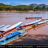 Asia - Laos - Luang Prabang - Louangphrabang - UNESCO World Heritage Site - Ancient royal capital at confluence of Mekong River & Nam Khan river - One of the most charming and best preserved towns in Southeast Asia with 34 Buddhist temples & monasteries in backdrop of lush green mountains - Traditional life along the Mekong River