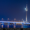 Macau - Macao - 澳門 - 澳门 - SAR - Special administrative region of China - Macau Tower at Dusk