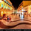 Macau - Macao - 澳門 - 澳门 - SAR - Special administrative region of China - Colonial Portuguese Architecture - Senado Square