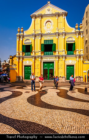 Macau - Macao - 澳門 - 澳门 - SAR - Special administrative region of China - Colonial Portuguese Architecture - Senado Square