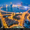 Macau - Macao - 澳門 - 澳门 - SAR - Special administrative region of China - City Skyline View from Macau Tower - 澳門旅遊塔 - Torre Panorâmica - Macau Sky Tower - Casino area at Dusk - Twilight - Blue hour