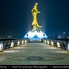 Macau - Macao - 澳門 - 澳门 - SAR - Special administrative region of China - Goddess of Mercy Statue - Kun Iam Statue at night