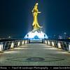 Macau - Macao - 澳門 - 澳门 - SAR - Special administrative region of China - Goddess of Mercy Statue - Kun Iam Statue at night