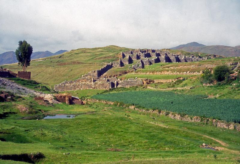 Inca Salcsayhuaman ruins above Cusco Peru u