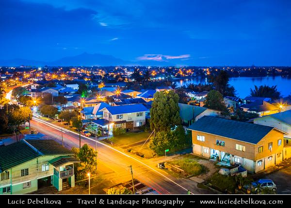 Southeast Asia - Malaysia - Borneo - Sarawak - Kuching -  Waterfront promenade - Dusk - Blue Hour - Twilight - Night