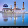 Southeast Asia - Malaysia - Borneo - Sabah - Kota Kinabalu - City Mosque - Sunset