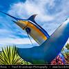 Southeast Asia - Malaysia - Borneo - Sabah - Kota Kinabalu - Swordfish sculpture on the waterfront - City symbol