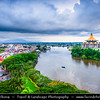 Southeast Asia - Malaysia - Borneo - Sarawak - Kuching -  Waterfront promenade - Sarawak State Legislative Assembly Building