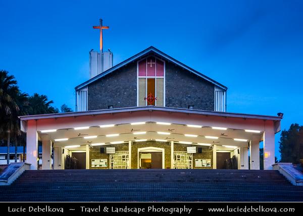 Southeast Asia - Malaysia - Borneo - Sarawak - Kuching - St. Thomas Cathedral - Dusk - Blue Hour - Twilight - Evening
