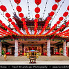 Malaysia - Kuala Lumpur - Federal capital - KL - Garden City of Lights - Thean Hou Buddhist Temple - Landmark six-tiered Chinese temple built by the Hainanese community living in Kuala Lumpur - Dedicated to Goddess Tian Hou (The Heavenly Mother)