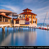 Malaysia - Penang - George Town - Unesco World Heritage Site - Church Street Pier - High end waterfront place of leisure - Century ago main pier for small boats to unload their cargo