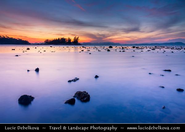 Malaysia - Kedah - Pulau Langkawi - Langkawi Island - Tropical Berjaya Beach - Relaxing location amidst tropical greenery & sun-soaked shores of Andaman Sea - Twilight - Dusk - Blue Hour - Sunrise