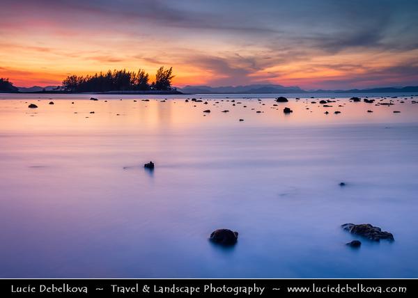 Malaysia - Kedah - Pulau Langkawi - Langkawi Island - Tropical Berjaya Beach - Relaxing location amidst tropical greenery & sun-soaked shores of Andaman Sea - Dawn - Sunrise time