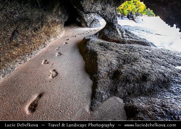 Malaysia - Kedah - Pulau Langkawi - Langkawi Island - Kilim Karst Geoforest Park - Located at the East of Langkawi Island -  Kilim Karst Geoforest Park is located at the East of Langkawi Island - Caves system on the beach of Andaman Sea