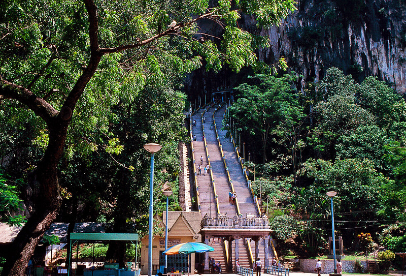 We were off piste on our RTW ticket at Singapore and our kinda foster exchange student Hassan had told us so much about his home country, we took a train up to Kuala Lampur hoping to catch a flight on to Bangkok.<br /> <br /> We made a trip to the Batu Caves.
