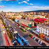 Asia - Mongolia - Монгол улс - Land of Vast Steppes & Kind Nomads - Ulan Bator - Ulaanbaatar - Улаанбаатар - The Red Hero - The capital and largest city of Mongolia - Modern Cityscape