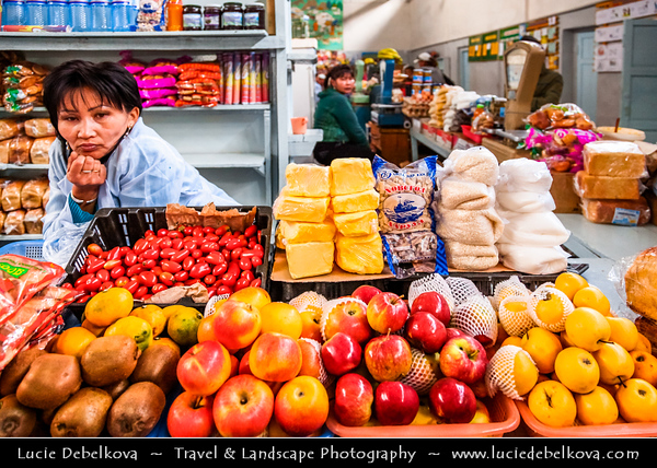 Asia - Mongolia - Монгол улс - Land of Vast Steppes & Kind Nomads - Khuvsgol Province - Mörön Town with Traditional Market