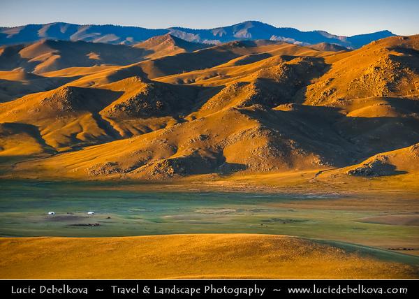 Asia - Mongolia - Монгол улс - Land of Vast Steppes & Kind Nomads - Khövsgöl Province - Хөвсгөл - Northernmost of the 21 provinces - Journey to Lake Khövsgöl - Stunning landscape bathing in warm autumn colors
