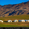 Asia - Mongolia - Монгол улс - Land of Vast Steppes & Kind Nomads - Saikhan Mountains of southern Mongolia - Life in Traditional Gers - Yurts